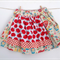 Girl's Twirly Tea Party Skirt Babushka with Red Apples - Girl, Toddler, Summer