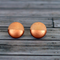 Hand painted colour dip wooden earrings. Copper