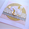 Gold glitter vellum butterfly birthday for her card