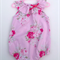 Gorgeous Summer Pink Roses Floral Baby Girl Toddler Romper Playsuit