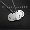 Personalized 3 Disc Necklace, HandStamped Triple disc Stainless Steel circle nec