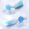Winter Kiss Frozen inspired hair clip set