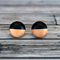 Hand painted colour dip wooden earrings. Black