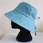 Blue Green Circle Adult Hat