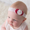 Red and White Vintage Christmas headband Heirloom gift idea or photo prop