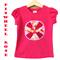 Size 3 Girls Bright Tees T-shirts, Pinwheel Rose Flower, 100% Cotton