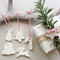 clay tags - mini embossed Christmas mix (set of 7)