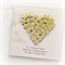 Personalised Wedding card keepsake gift boxed yellow and white paper roses heart