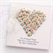 Personalised Wedding card keepsake gift boxed ivory and pink paper roses heart