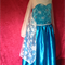 Girls size 8 Elsa inspired dress princess costume frozen cape halleween snow