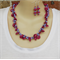 Hot Pink Purple Lilac Crochet Wire Beaded Handmade OOAK Necklace by Top Shelf