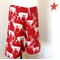 Christmas Deer Shorts~Red