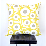 Lime Retro Flower Cushion Cover