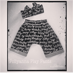 Adorable 'Pollyanna' Monochrome Play Pants
