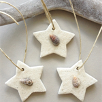 clay tags - coastal stars (set of 3)