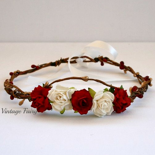 Christmas Flower Crown By Vintage Fairy Vintage Fairy