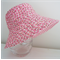 Girls hats in pink ladybird pattern-limited sizes