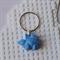 DINO-TASTIC - Stegasaurus dinosaur shaped bag tag hand cast in blue resin