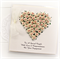 Engagement Personalised card keepsake gift box ivory and pink paper roses heart