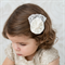 Vintage inspired Silk hair clip for flower girl bridesmaid or chirstening