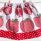 Size 4 - Reversible Skirt Red Apples with Owls and Windmills - ready to post