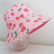 Girls hats in cheerful cherry pattern-Medium size only