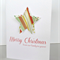 Merry Christmas our family to yours dimensional star stripes mistletoe card