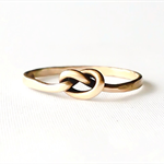 Promise ring, love knot ring, 14k gold filled