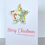FREE POST Pack of 5 christmas cards - from our family to yours