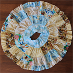 Patchwork Twirl Skirt - Seaside - Size 4