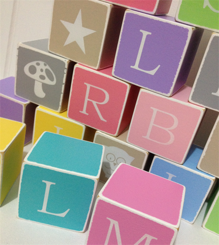 Personalised Custom 8 x Wooden Letter Blocks - Child's Name