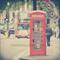 "Photographic Art Print - London Red Box - 5x5"""