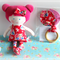 BABY GIFT SET  - Handmade Soft Cloth Doll and Teething Ring Toy