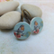 Vintage Bird Wood Photo Cut Earrings