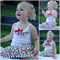 Girls Christmas skirt & singlet Set: Sz 2-5 ($32) Sz 6-12 ($37)(girl/outfit/top)