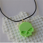 SKULL CANDY - cool skull pendant handmade in fluro lime green resin