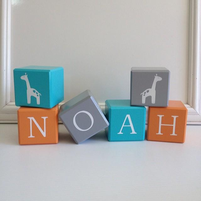 13 Wood Blocks Bevelled Edge Wooden Letter Custom Child Name
