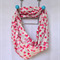 sale Infinity scarf - cotton voile accessory cerise pink on white 2 for $30 !!