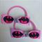 Batgirl Super hero Ribbon Hairbow Elastic Hair Ties 2 pack