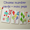 Unisex number cards PLUS mini pegs - Number wall art - number flash cards