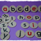 Wooden alphabet discs - lowercase wooden letter discs - alphabet learning game