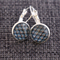 Shell Pattern in Blue ~ Lever Back Earrings