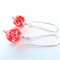 Orange Crush Glass and Sterling Silver Earrings by Sasha and Max