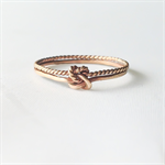 Double knot ring, double infinity, 14k gold filled