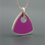 Violet Sterling silver and Resin Pendant