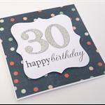 Handmade Birthday Card - Any age -  Confetti