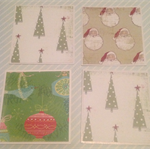 Merry Christmas Card set of 4