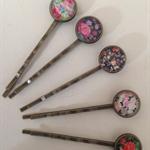 Floral Vintage Style Hair Clips-5  hair clips
