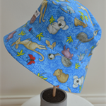 """Kids Sun Hat  """"Hello from Down Under', size 5 + years"""