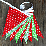 Christmas Bunting Red/Green
